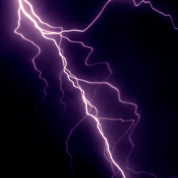X_Tesla purple lightning
