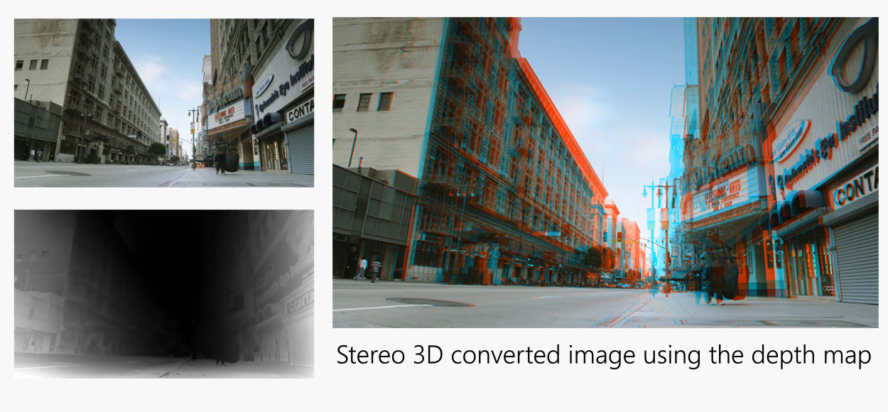 3D stereo conversion using depth maps