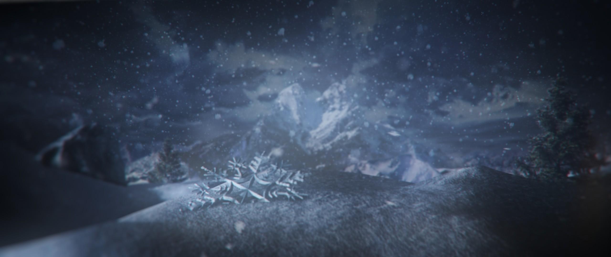 The fallen snowflake