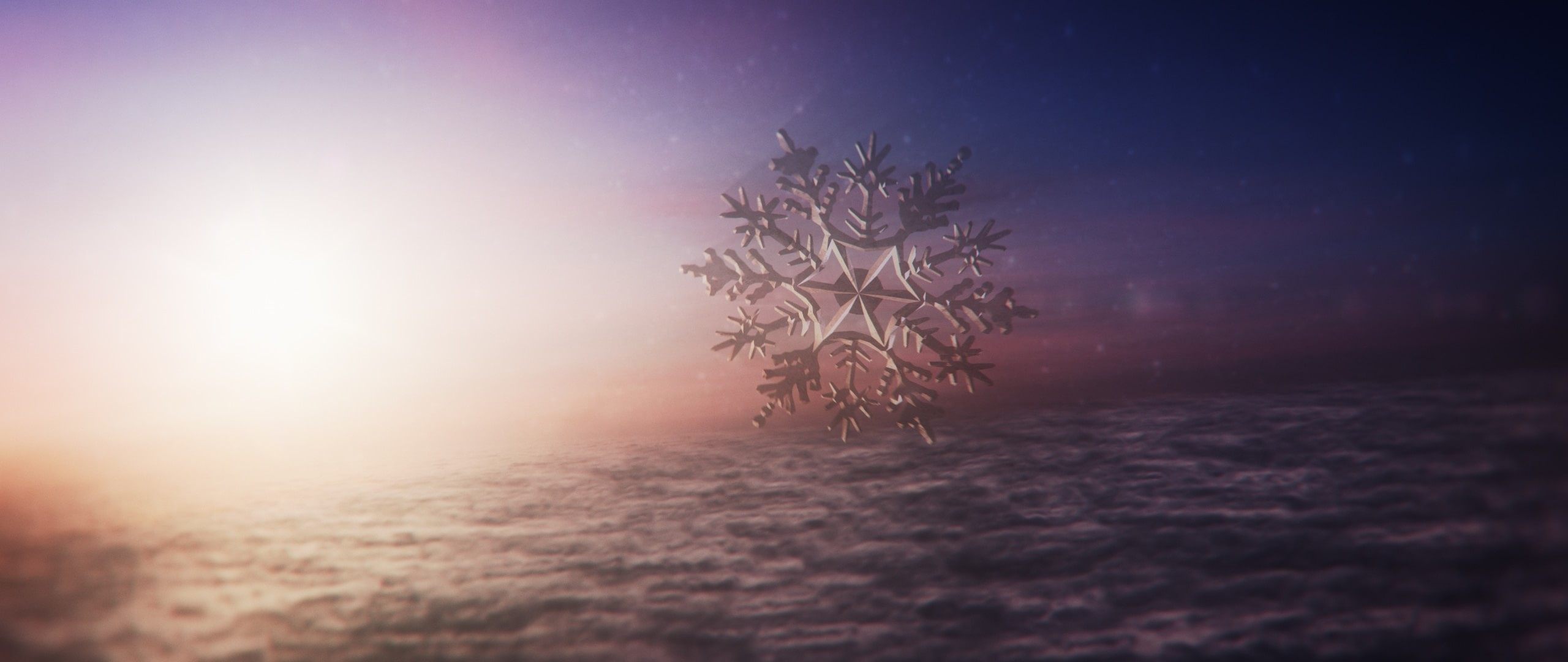 The CG Sunset we see in the Christmas video