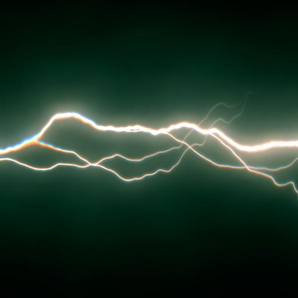 X_Tesla green lightning