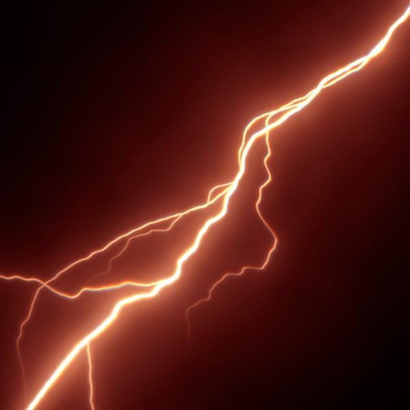 X_Tesla red lightning